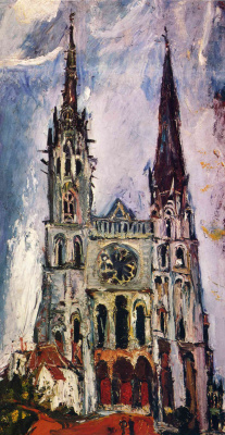 Haim Solomonovich Soutine. The Cathedral in Chartres