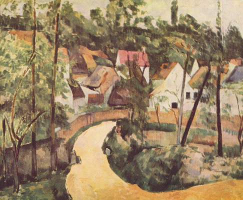 Paul Cezanne. The bend in the road