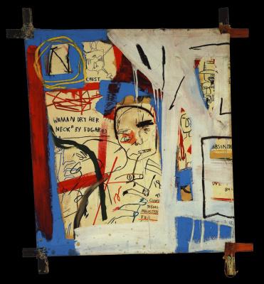 Jean-Michel Basquiat. Three quarters of Olympia minus the servant