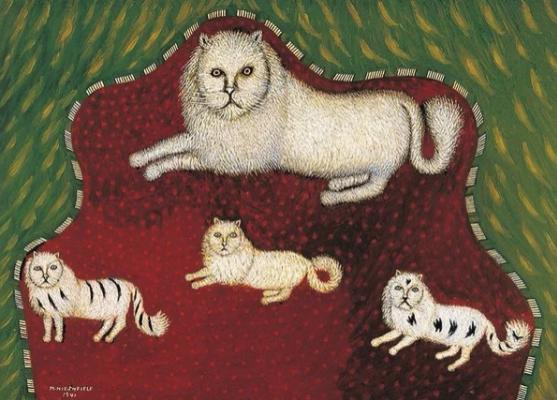 Morris Hirschfield. Four cats