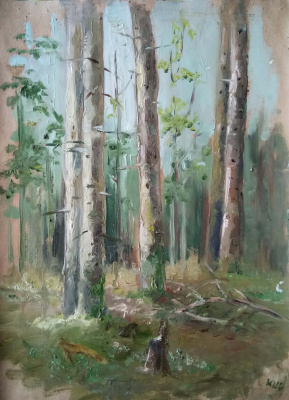 Кристина Щекина. Forest in spring, sketch