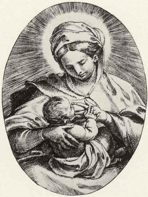 Annibale Carracci. The Virgin Mary