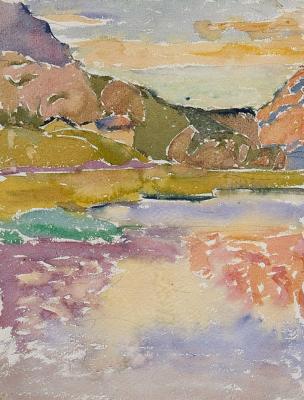 Giovanni Giacometti. Landscape in Capolago