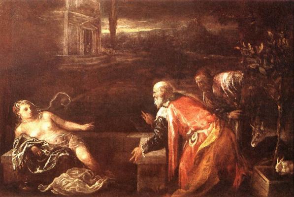 Jacopo da Ponte Bassano. Susanna and the elders