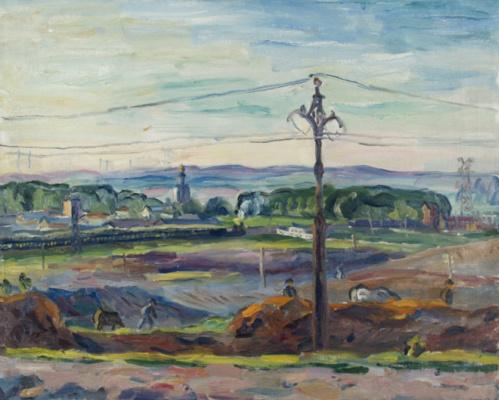 Аристарх Васильевич Лентулов. В окрестностях Москвы. 1940
