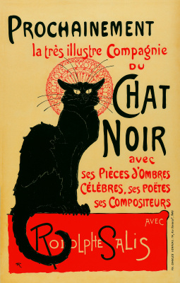 "Theophile-Alexander Steinlen. The renowned company ""the Black cat"""