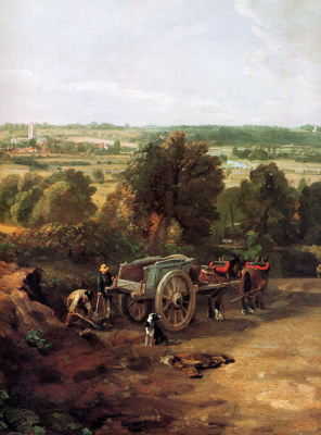 John Constable. The valley of the river Stour and the village of Dedham