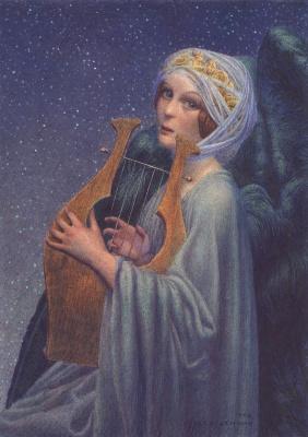 Карлос Швабе. Женщина с лирой. 1902