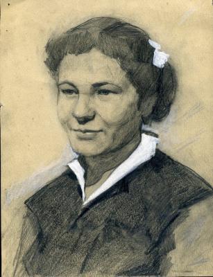 Владимир Иванович Бичевой. Portrait of the artist's wife