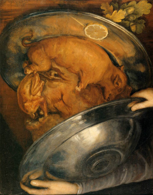 Cook (still life with a pig)