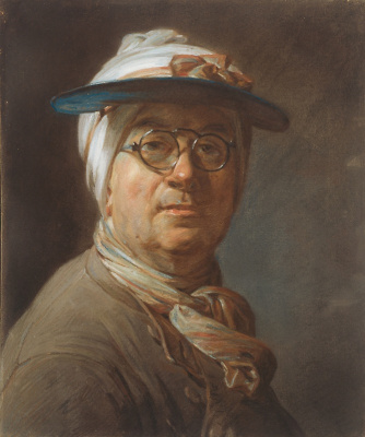Jean Baptiste Simeon Chardin. Self portrait with glasses and a visor