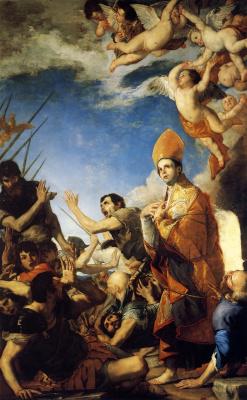Хосе де Рибера. Святой Януарий, выходящий из огненной печи