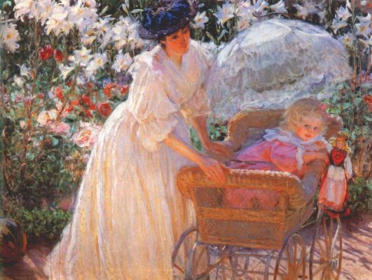 Фредерик Макмонниес. Розы и лилии