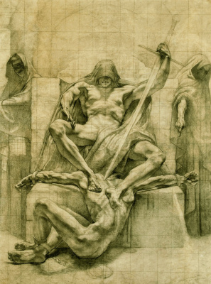 "Jean Delville. Justice of the past. Sketch for the cycle ""Justice"""