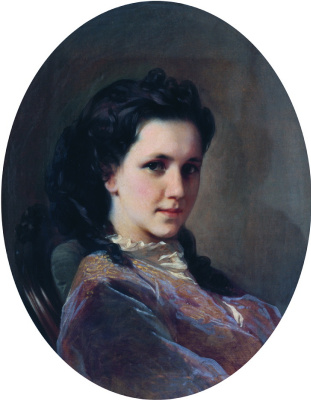 Ivan Kuzmich Makarov. Portrait of N. P. Loshkareva. 1860