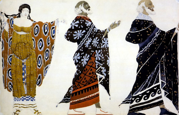 "Lev Samoilovich Bakst (Leon Bakst). The costumes for the tragedy ""aedipes in Colon"""