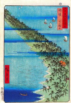 Утагава Хиросигэ. Полуостров Аманохашидате в провинции Танго