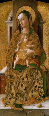 Карло Кривелли. Мадонна с младенцем на троне
