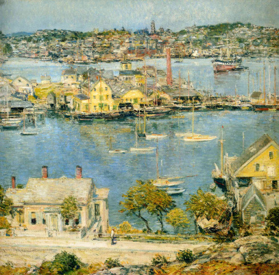 Childe Hassam. The Plea Gloucester Harbor