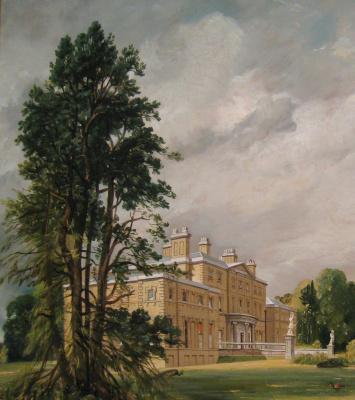 Джон Констебл. Мэлверн Холл, Уорикшир, Англия II. Фрагмент: поместье