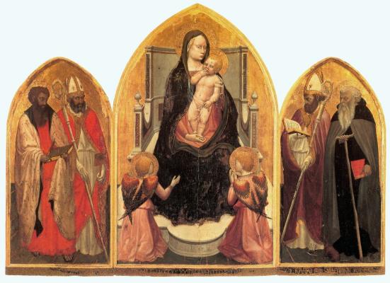 Tommaso Masaccio. Triptych San Jovenale