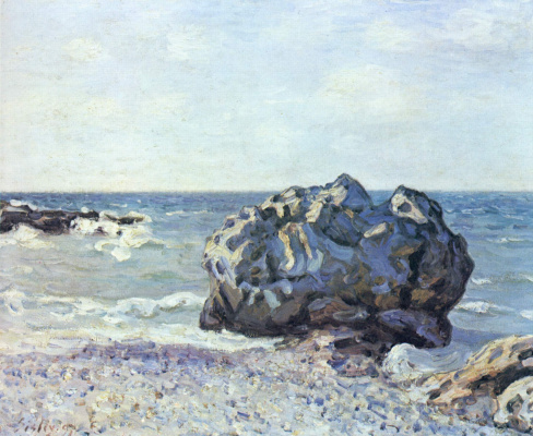 Alfred Sisley. Rock in the Bay Langlan