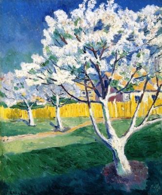 Kazimir Malevich. Apple tree in bloom