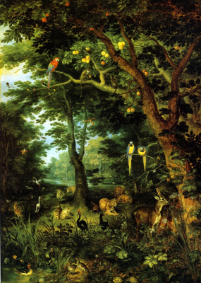 Jan Brueghel the Younger. Paradise