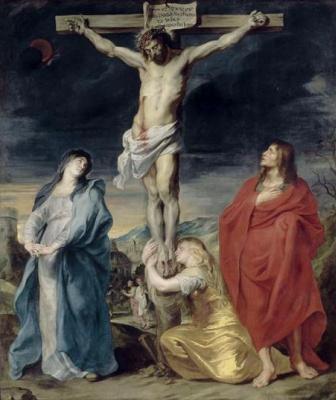 Антонис ван Дейк. Распятие с Марией Магдалиной и святым Иоанном