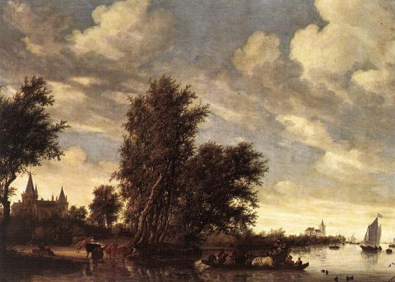 Саломон ван Рёйсдал. Паром