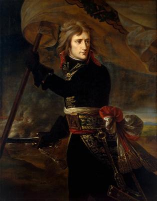 Antoine Jean Gro. Napoleon Bonaparte on the bridge at Arcole