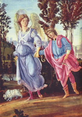 Filippino Lippi. Tobias and the angel
