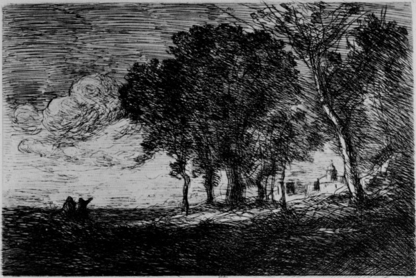 Camille Corot. The Italian landscape