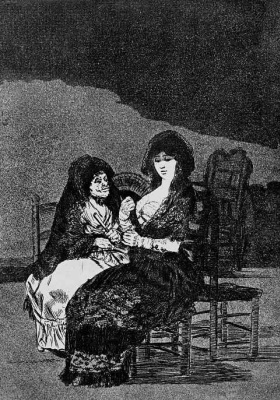 "Francisco Goya. ""Good advice"" (Series ""Caprichos"", page 15)"