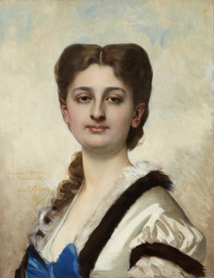 Jules Joseph Lefebvre. Portrait of a Lady. 1873