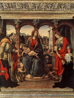 Filippino Lippi. Madonna and child with saints