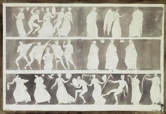 Жан-Пьер-Лоран Уэль. Проекция этрусской вазы