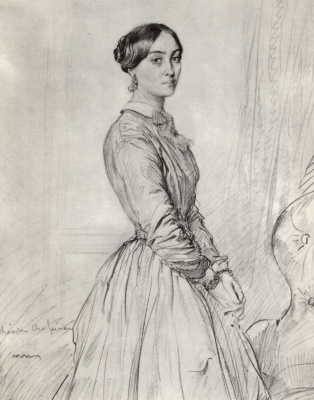 Теодор Шассерио. Портрет мадам Борг де Бальсам