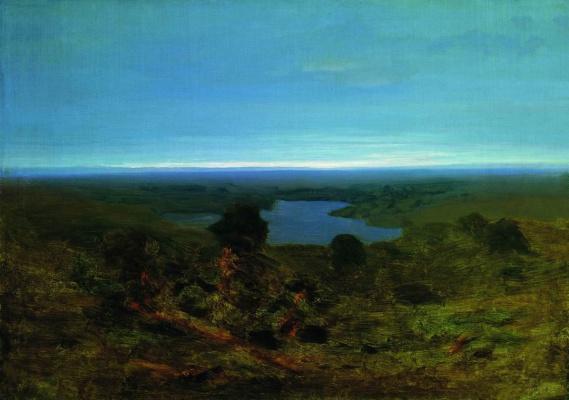 Arkhip Ivanovich Kuindzhi. The lake. The evening