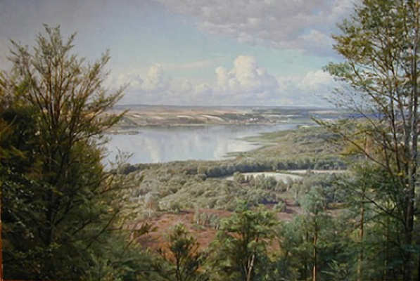 Peder Mørk Mønsted. Lake view
