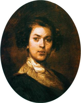 Иван Кузьмич Макаров. Автопортрет в юности. 1840