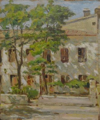 Евгений Иосифович Буковецкий. Odessa. City landscape, st. Princely