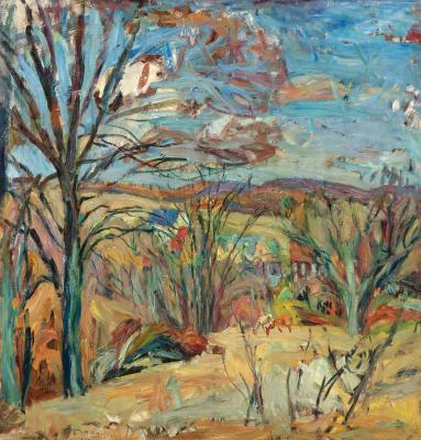 Абрам Аншелевич Маневич. Autumn landscape