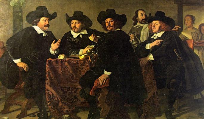 Бартоломеус ван дер Гельст. Джентльмены в шляпах