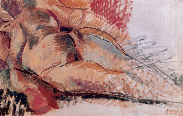 Умберто Боччиони. Обнаженная