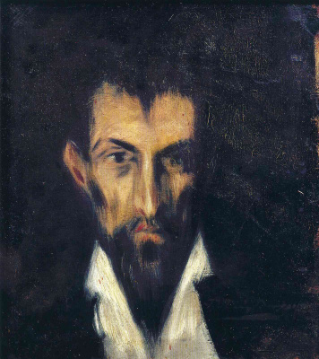 Pablo Picasso. Portrait of the stranger in the style of El Greco