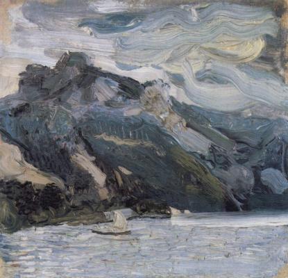 Richard Gerstl. The sleeping Greek woman near the lake Traun