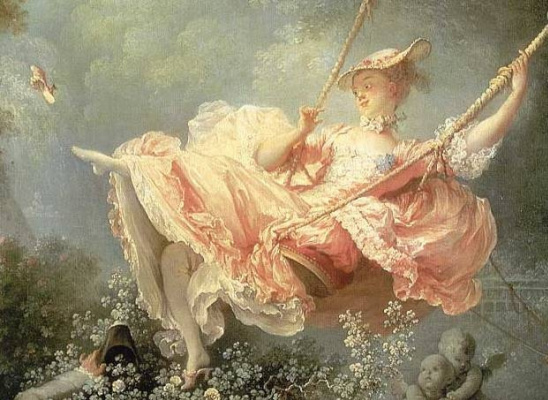 Jean Honore Fragonard. Happy to swing (fragment)