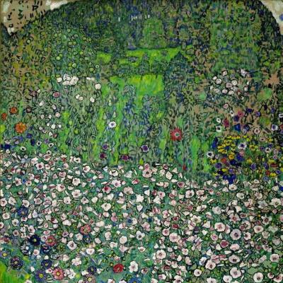 Густав Климт. Вид на сад с вершины холма