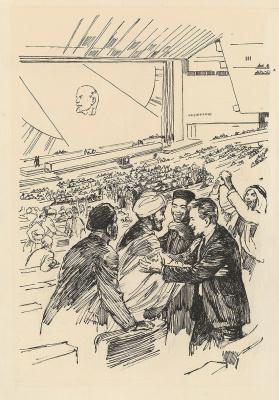 Аркадий Александрович Лурье. Встреча на Фестивале молодежи и студентов в Москве. 1950-е